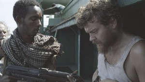 Mikkel (Pilou Asbaek) held hostage in A HIJACKING (Venice Film Festival)