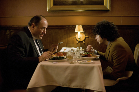 James Gandolfini, left, and John Magaro in NOT FADE AWAY (The Film Society of Lincoln Center)