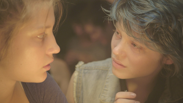 Adèle Exarchopoulos, right, and Léa Seydoux in BLUE IS THE WARMEST COLOR (All photos: Cannes Film Festival)