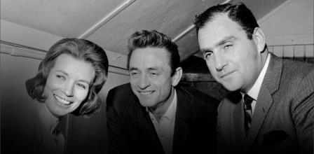 From left, June Carter, Johnny Cash, and Saul Holiff (New Chapter Productions)