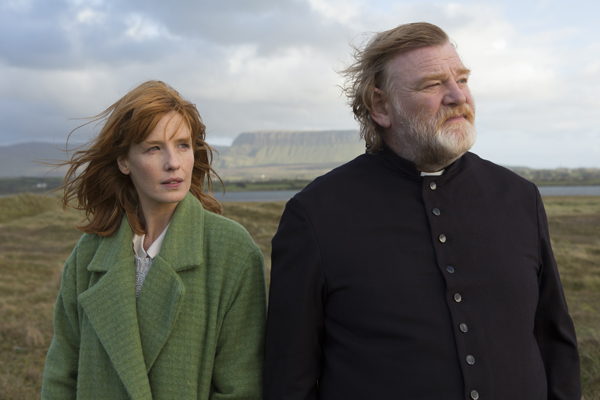 Kelly Reilly and Brendan Gleeson in Calvary (Jonathon Hession/Fox Searchlight Pictures)