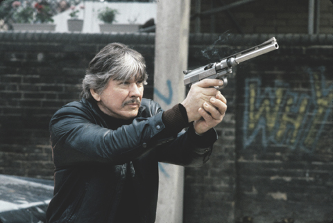 Charles Bronson reprises his Death Wish vigilante, as seen in Electric Boogaloo: The Wild, Untold Story of Cannon Films