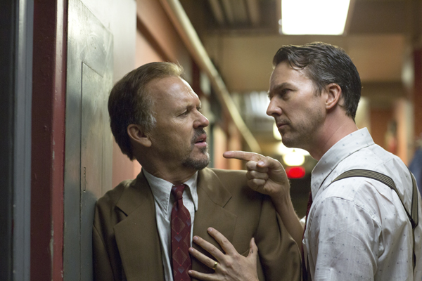 Michael Keaton and Edward Norton in Birdman (Alison Rosa/Fox Searchlight Pictures)