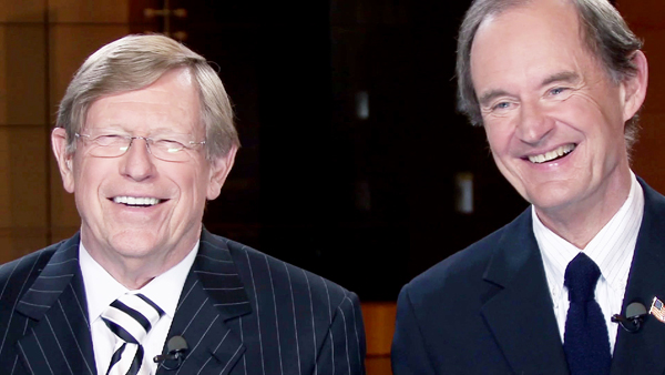 Theodore B. Olson. left, and David Boies in The Case Against 8 (HBO Documentary)