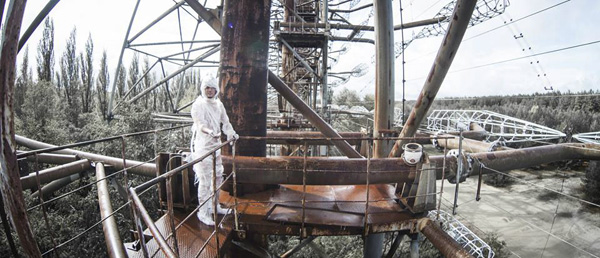 On the top of the Duga in The Russian Woodpecker (Film Buff)