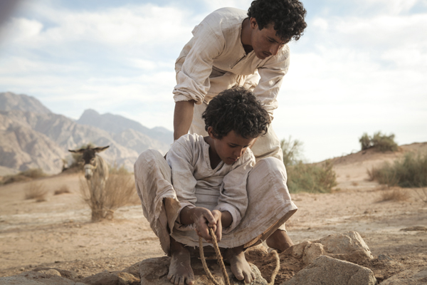 Jacir Eid, foreground, and Hussein Salameh in Theeb (Laith Al-Majali/Film Movement)