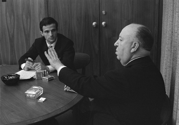 François Truffaut, left, and Alfred Hitchcock (Philippe Halsman/Cohen Media Group)