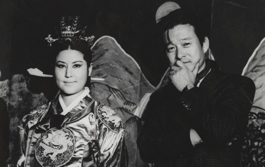 Choi Eun-hee, left, and Shin Sang-ok in The Lovers and the Despot (Magnolia PIctures)