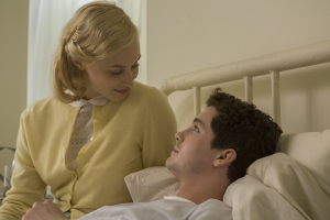 Sarah Gadon and Logan Lerman in Indignation (Alison Cohen Rosa/Summit/Roadside Attractions)