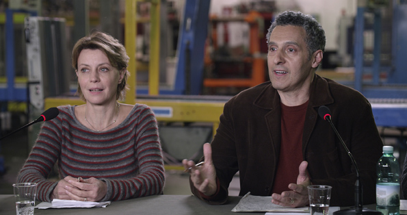 Margherita Buy and John Turturro in Mia Madre (Music Box Films)