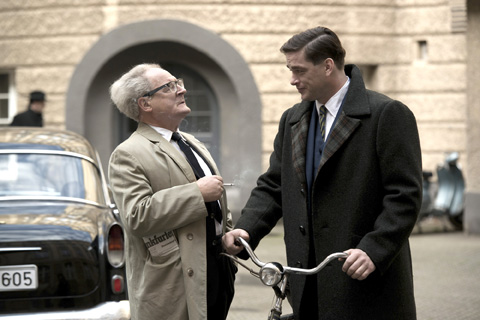Burghart Klaussner, left, and Ronald Zehrfeld in The People vs. Fritz Bauer (Cohen Media Group)