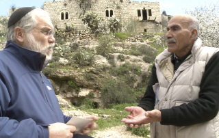 Menachem Duam, left and Yacoub Odeh in The Ruins of Lifta (Oren Rudavsky Productions)