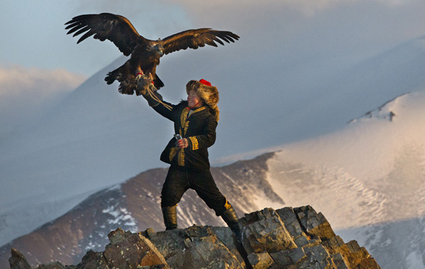 Aisholpan in The Eagle Huntress (Asher Svidensky/Sony Pictures Classics)