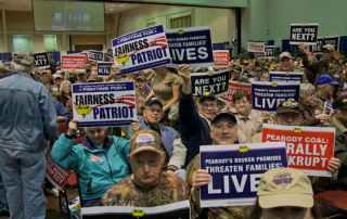A United Mine Workers of America Patriot Rally in Charleston, WV (Abramorama)