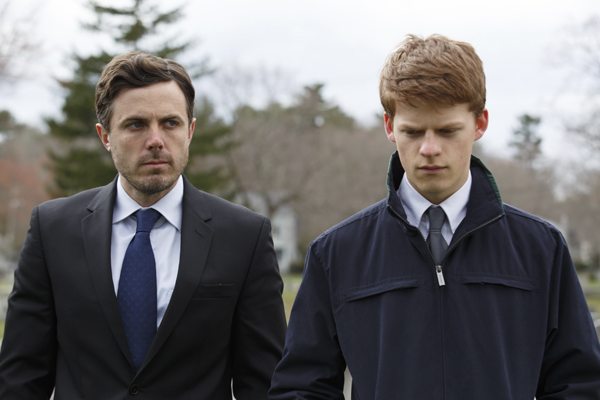Casey Affleck, left, and Lucas Hedges in Manchester by the Sea (Claire Folger)