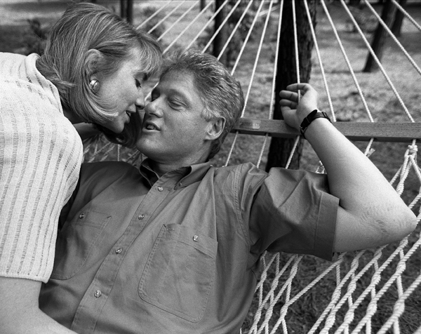 Hillary and Bill Clinton in Harry Benson: Shoot First (Harry Benson/Magnolia Pictures)