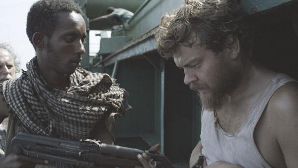 Mikkel (Pilou Asbaek) held hostage in A HIJACKING (Venice Film Festival)