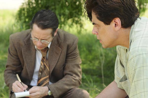 Mathieu Amalric, left, and Benicio Del Toro (IFC Films)