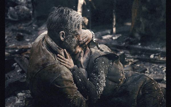Petr Fedorov, left, and Mariya Smolnikova in Stalingrad (Columbia Pictures)