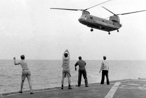 Aboard the USS Kirk, April 1975, in Last Days in Vietnam (Hugh Doyle)