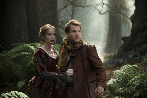 Emily Blunt and James Corden in Into the Woods (Peter Mountain/Disney Enterprises)