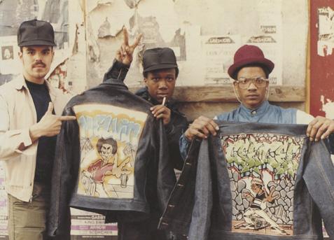 B-boys in Brooklyn, circa 1983, as seen in Fresh Dressed (Jamel Shabazz)