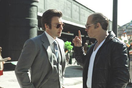 Joel Edgerton, left, and Johnny Depp in Black Mass (TIFF)