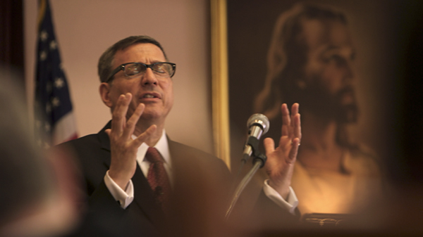 Rob Schenck preaching in The Armor of Light (Jeff Hutchens)