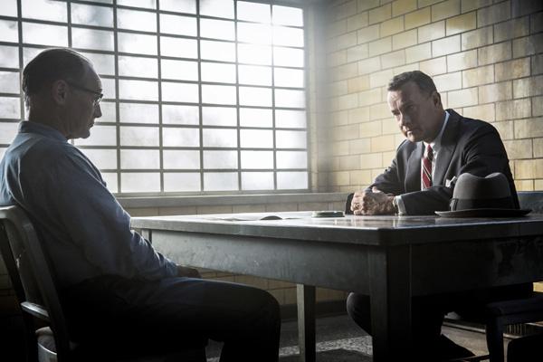 Mark Rylance, left, and Tom Hanks in Bridge of Spies (Jaap Buitendjjik/ DreamWorks Pictures/Twentieth Century Fox)