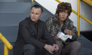 Robert Carlyle and Emma Thompson in Barney Thomson (Gravitas Ventures)
