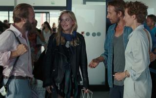 (From left to right): Ralph Fiennes, Dakota Johnson, Matthias Schoenaerts, and Tilda Swinton in A Bigger Splash (Jack English/Twentieth Century Fox Film Corp.)