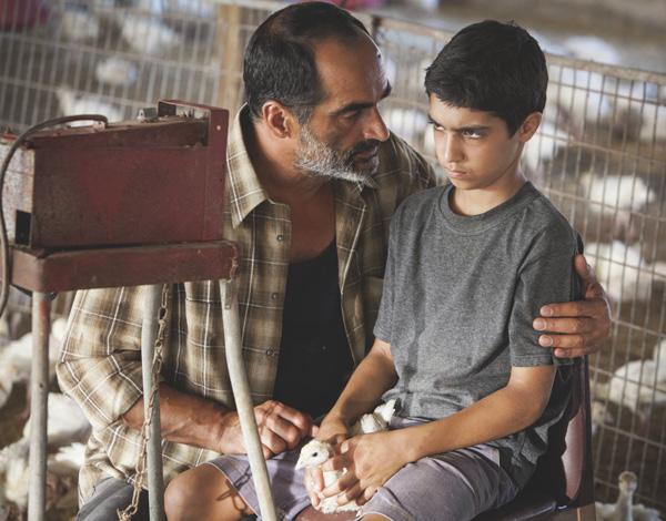 Navid Negahban, left, and Asher Avrahami in Baba Joon (Toronto International Film Festival)