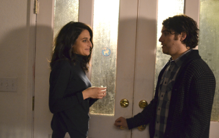Jenny Slate and Adam Pally in Joshy (Lionsgate Premiere)