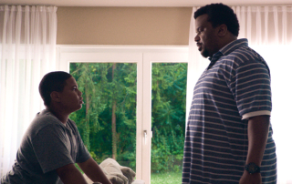 Markees Christmas. left, and Craig Robinson in Morris from America (A24)