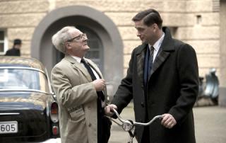 Burghart Klaussner, left, and Ronald Zehrfeld in The People vs. Fritz Bauer (Cohen Media Group)