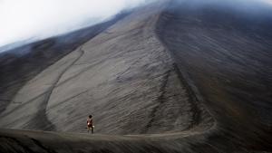 Dain at the volcano Yahul in Tanna (Lightyear Entertainment)