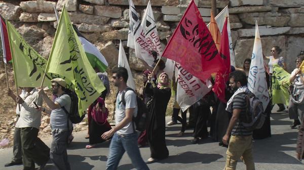 A scene of the march in Disturbing the Peace (Abramorama)